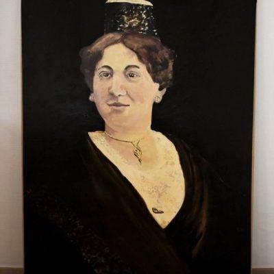 Portrait à l'huile signé Michel Mans